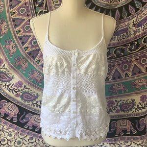 White lace cotton top